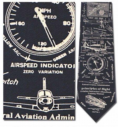 Museum Artifacts Principles of Flight Silk Tie Necktie (Pilot Tie)