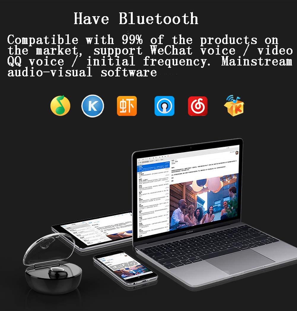 HLG Auriculares inalámbricos, Bluetooth v 4.1 Auriculares 16h Juego Verdaderos Auriculares estéreo inalámbricos incorporados Auriculares de micrófono,White: ...