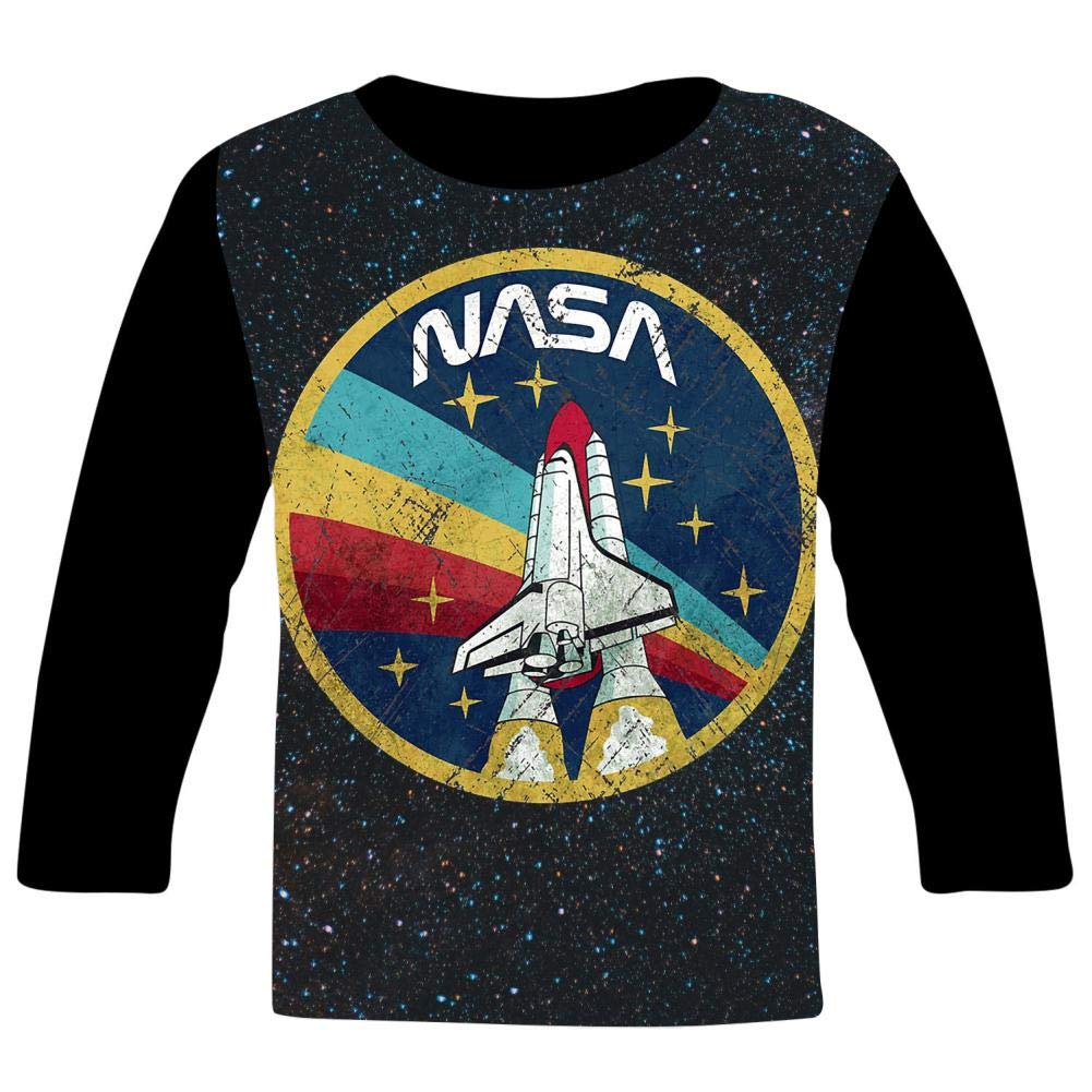 NASA Vintage Colors Youth//Kids Casual T-Shirt 3D Print Long Sleeve