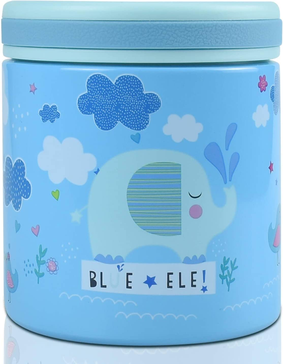 Blue Ele 14oz Thermos Vacuum Insulated Stainless Steel Lunch Box for Kids and Adults with 304 Stainless Steel, Insulated Lid