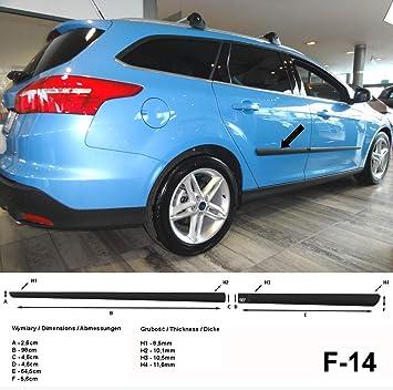 Spangenberg Listones de protección Lateral Ford Focus III Hatchback de 5 Puertas a Partir de Facelift