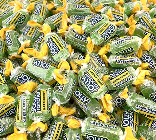 LaetaFood Jolly Rancher Green Apple Hard Candy - 2 Pounds Bag]()