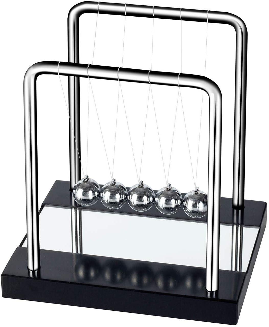 DOTSOG Newton's Cradle, Desk Table Decor Metal Pendulum Ball Newton Ball Physics Science Pendulum Steel Balance Ball for Office Physics Teacher Toys