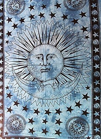 Sun N Moon Purple Tapestry, Sun Hippie Hippy Tapestry ,Wall Hanging, Table Cloth, Tie Die Handmade Bed Sheet Gift Art 82