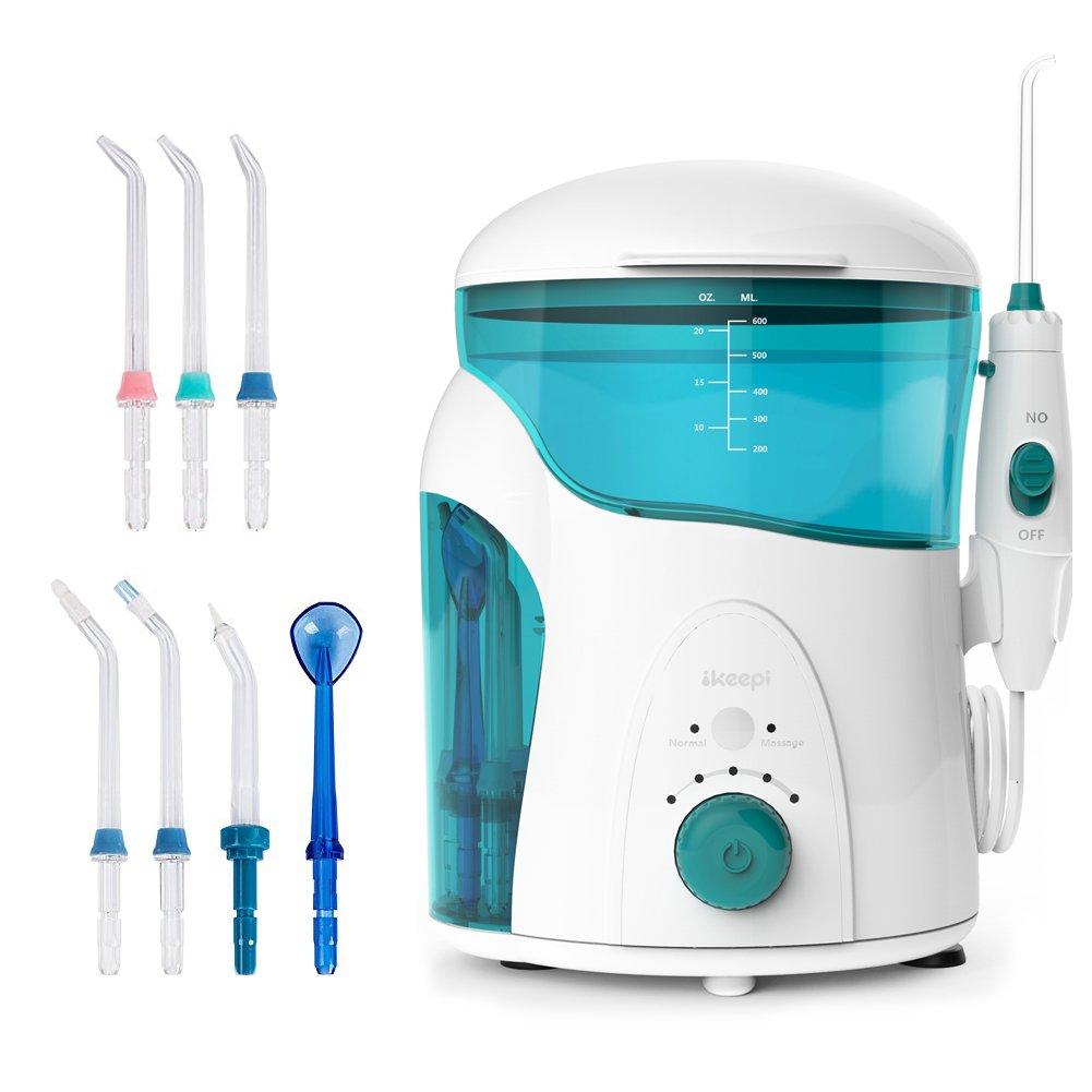 Ikeepi Irrigador Dental Oral Portatil Electrico con Cabezales ml Depósito de Agua