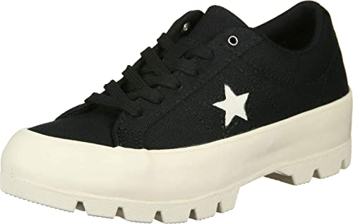 Converse One Star Lugged Damen Schwarz/Egret Ox Sneakers: Amazon.de ...