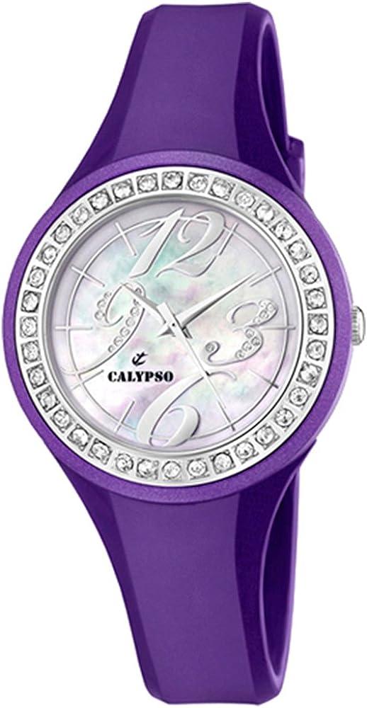 Calypso by Festina señoras reloj lila K5567/4