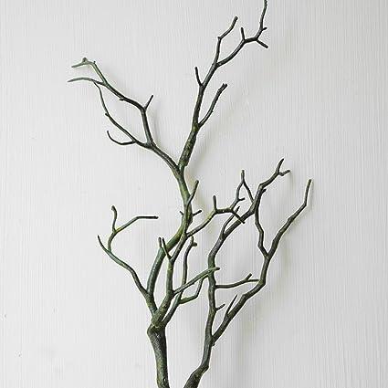Yodaliy Adorno De Ramas Secas De Plastico Artificial Para - Plantas-secas-decoracion