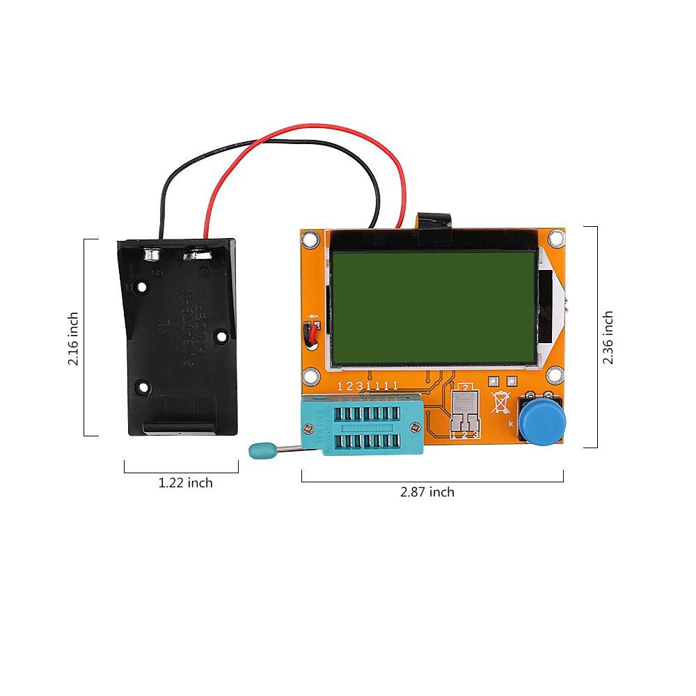 12864 Mega328 Esr Transistor Resistor Diode Capacitor Mosfet Tester Lcr Meter Circuit Diagram W Test Hook