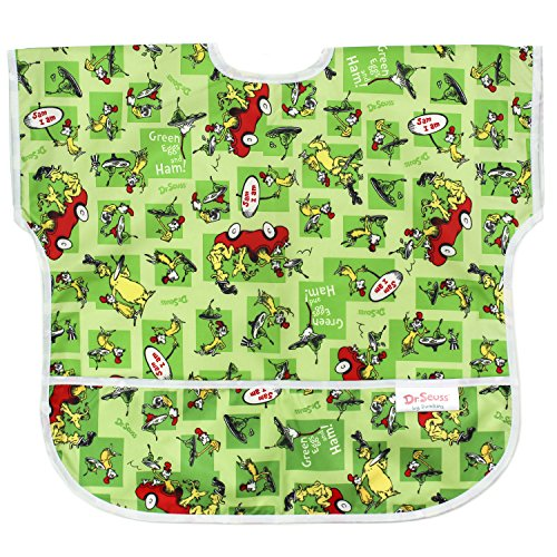 Bumkins Waterproof Junior Bib, Seuss Green Eggs (1-3 Years)
