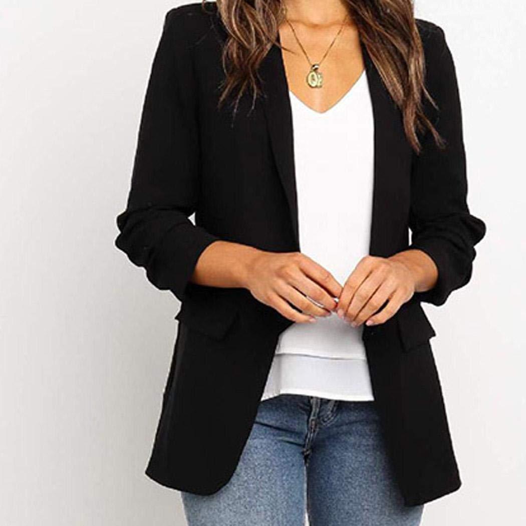 Cascat Women Blazer,Women Gorgeous Jackets Long Sleeve Lapel Collar Blazer Suit Casual Work Office Cardigan Coat