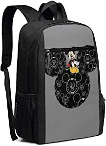 Travel Laptop Backpack Mickey Mouse College School Bookbag Computer Bag Casual Daypack For Women Men