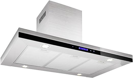 Klarstein 90TS4 Campana extractora de pared (90 cm, 500 m³/h, 68 dB, acero inoxidable pulido, pantalla táctil, elegante diseño, bajo nivel de ruido): Amazon.es: Hogar