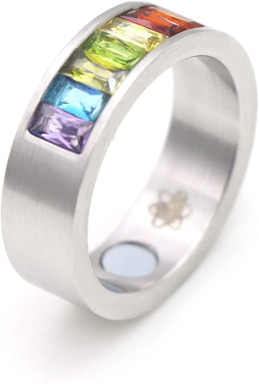 Energetix 4you 9006 - Anillo magnético con piedras preciosas de Swarovski, multicolor