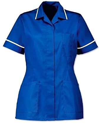 671ffc72ec824 Instex Womens Healthcare Tunic, Royal Blue with White Trim, INS32RB:  Amazon.co.uk: Clothing