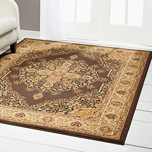 Home Dynamix HD2319-511 Royalty Tansy Traditional Area Rug 7'8''x10'4'', Oriental Brown/Ivory by Home Dynamix