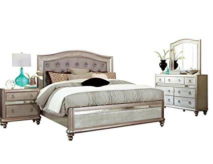 Fabulous Amazon Com Coaster Bling Game Bedroom Set With Queen Bed Download Free Architecture Designs Photstoregrimeyleaguecom