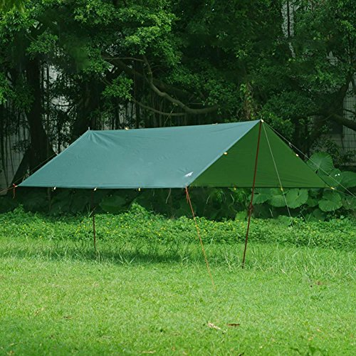 トレース地球変位テント 多機能テント 屋外キャノピー 簡単設置 超軽量 広いスペース 涼しい 日よけ 防水 シンプル 4x3m 銀コーティング 遠足 登山 家族旅行 アウトドア