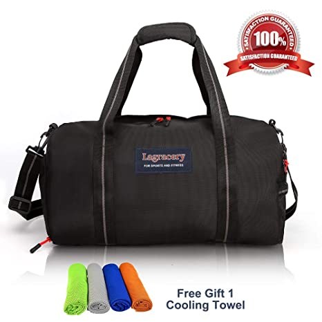 a4aa2a6581 Amazon.com  La Gracery Sports Gym Bag with Shoes Compartment   Dry Wet  Separation Layer Waterproof Travel Duffel Bag for Women and Men  Sports    Outdoors