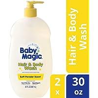 Baby Magic Soft Powder Scent Hair & Body Wash, 30 fl oz (2 Pack)