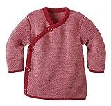 Disana Baby Boys' Melange Jacket, 100% Organic Merino Wool 8-15 Months (Height 28-31) (74/80) Red