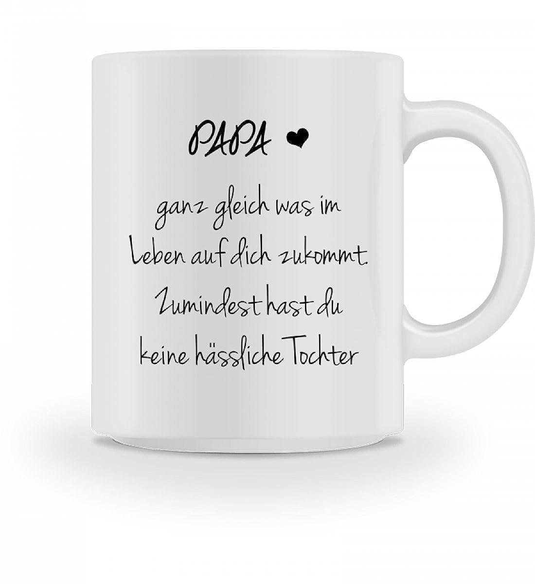 Shirtee Hochwertige Tasse - Lustiges Geschenk Papa Vater Geburtstag ...