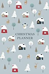 Christmas Planner With Cute Illustration: Cute Winter Season Illustration Christmas Planner Paperback