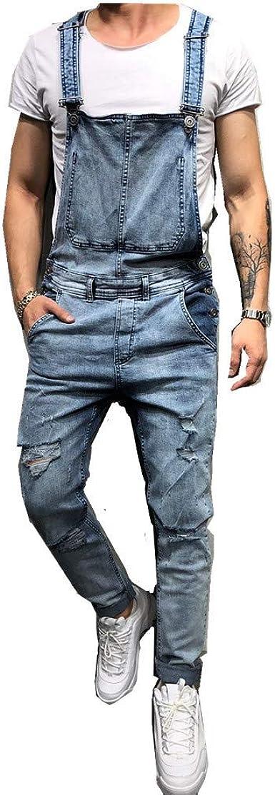 Fansu Peto Jeans Monos Hombres Denim Jeans Bib Overoles Pantalon Vaqueros De Mono Para Hombre Pantalones De Bolsillo Rotos Mezclilla Jumpsuit Casual Amazon Es Ropa Y Accesorios