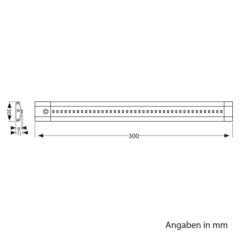 220lm Blanca c/álida Cada 30cm Plano Parlat LED l/ámpara bajo Mueble SIRIS Juego de 2