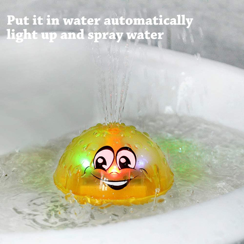 Spray Water Squirt Toy LED Light Up Float Toys Bathtub Shower Pool Bathroom Toy for Baby Toddler Infant Kid Water Electronic Sprayer HLXY Bath Toy