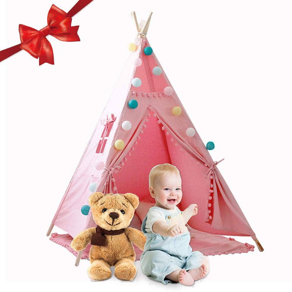 sunronal Teepee Interior Ni/ño Beb/é Lienzo Tiny Land f/ür Kinder Play para Estera del Piso Indian Decoraci/ón del hogar