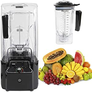 Ethedeal Countertop Blender, 110V 2200W 2.2L Commercial Blender Mixer, Multi-purpose Fruit Juice Maker Food Mixer Ice Crusher, Mixer for Milkshakes & Smooths with Soundproof Cover(110V-2.2L)