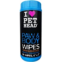 The Company of Animals Pet Head Paw and Body Wipes, Pack of 50