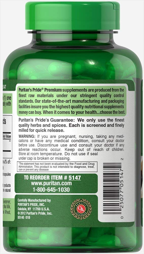 Amazon.com: Puritans Pride raíz de jengibre 550 mg-200 ...