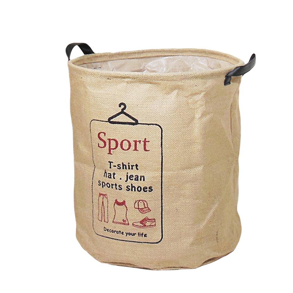 AIHOME - Cesto portabiancheria in cotone, richiudibile, adatto anche per riporre i giocattoli e per conservare i vestiti in ordine, SPORT, small