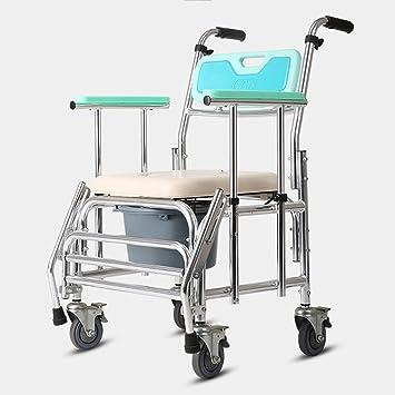 JXXDDQ Silla de Ducha de Aluminio Plegable Banco de baño Silla para Silla de Ruedas Silla
