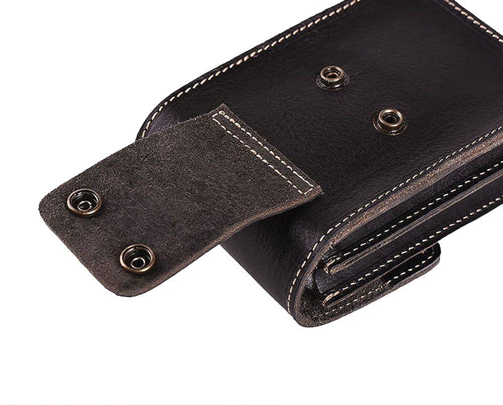 Genda 2Archer Mens Genuine Leather Small Belt Fanny Waist Bag Pack Hip Bum Phone Pouch