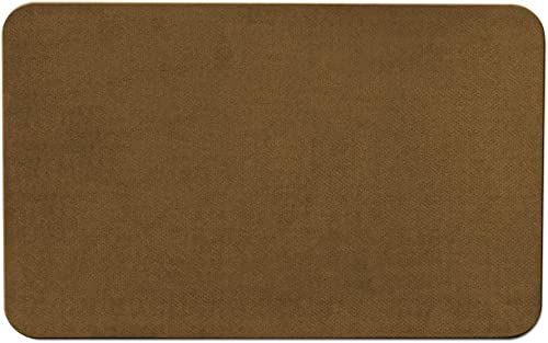 House, Home and More Skid-Resistant Carpet Indoor Area Rug Floor Mat – Bronze Gold – 8 Feet X 10 Feet