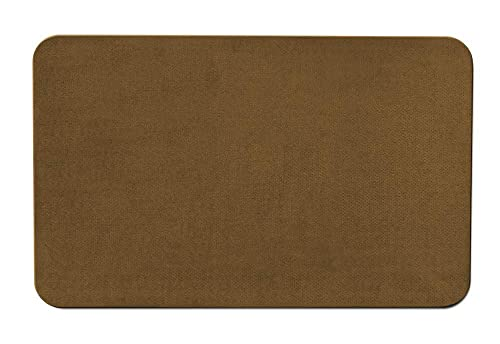 House, Home and More Skid-Resistant Carpet Indoor Area Rug Floor Mat – Bronze Gold – 4 Feet X 6 Feet