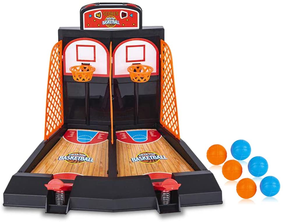 ArtCreativity Desktop Arcade Basketball Game, Tabletop Indoor Basketball Shooting Game for Kids and Adults, Desk Games for Office for Adults, Best Gift Idea for Boys and Girls