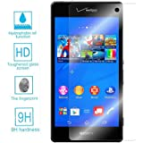 Gdluck 9H Tempered Glass Protector Screen Film for Front of Sony Xperia Z3V D6708 Verizon