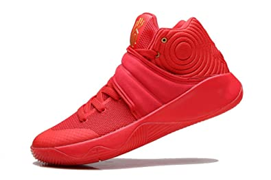 newest b0a1b 0e41d Mens High-Top Casual Kyrie 2 Basketball Sneaker Swoosh Red Yellow Gold  Medal UNIVERSITY REDMETALLIC
