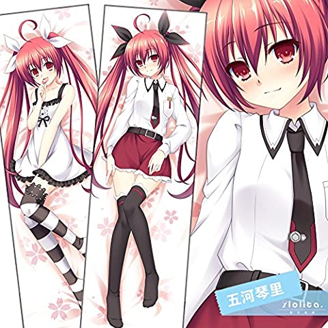 Personalized pillowcase Dakimakura Hugging Body Pillow Case 150x50CM Double PrintedCushion Cover Date A Live Kotori (Dakimakura Date A Live)