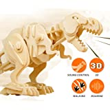 ROBOTIME Wooden Biting T-Rex Dinosaur 3D Puzzle Best Birthday Gifts for School Kids