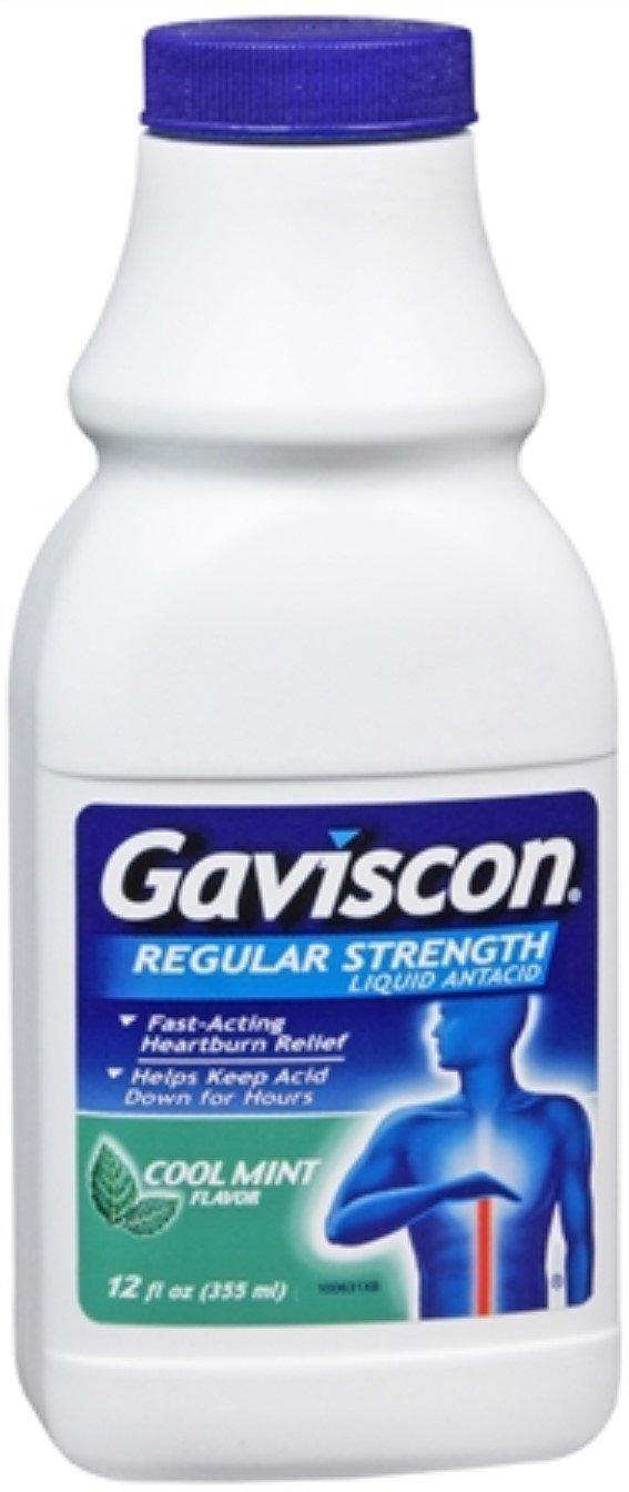 Gaviscon Liquid Regular Strength Cool Mint Flavor 12 oz (Pack of 11)
