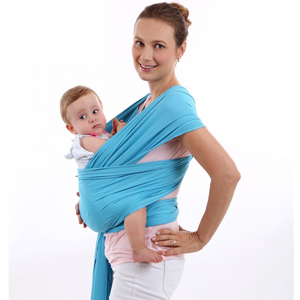 Baby Carrier Wrap,Vishm All-in-1 Stretchy Baby Wraps or Newborns, Infants & Toddlers up to 44 lbs/20 kg, Soft and Comfortable | Ideal Gift (Grey)