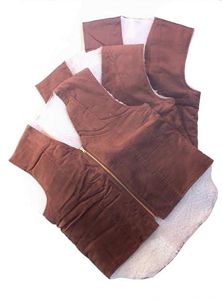 Chaleco invierno piel cálido chaleco pana chaqueta trabajo talla M, L, XL, XXL
