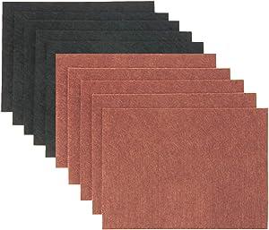 "yalansmaiP Felt Furniture Pads, Self Adhesive Furniture Felt Sheets, Cuttable Felt Chair Pads Anti Scratch Floor Protectors for Hardwood Floors, 8"" x 6"" x 1/5"" -2 Colors 10 Pack"
