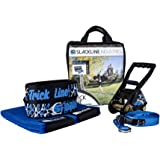 Slackline Industries Play Line - 50ft Slackline Kit for Beginners with Help Line, Ratchet, Tree Protectors