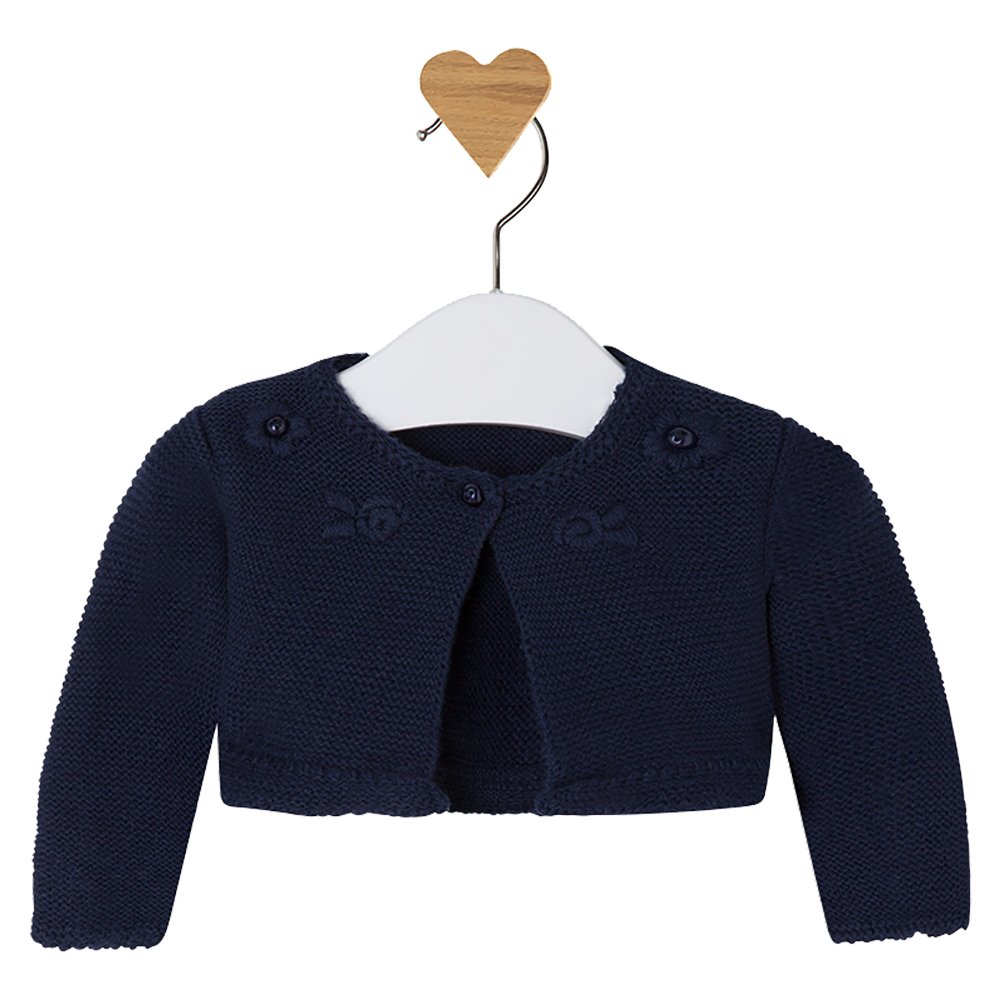 c039e02bd31f Amazon.com  Mayoral Baby Girls Dark Navy Blue Shrug - Knitted Short ...